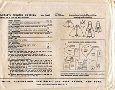 Unsung Sewing Patterns: McCall 2062 - Family Aprons and Bib - with Gingerbread Appliques