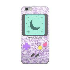 Magical Girl Game System iPhone case  #videogames #gamer #gameboy #kawaii #sparkle #controller #nintendo