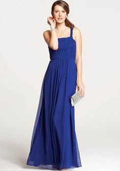 A line Chiffon One Shoulder Empire With Ruching Bridesmaids Dresses - 1300105370B - US$99.99 - BellasDress