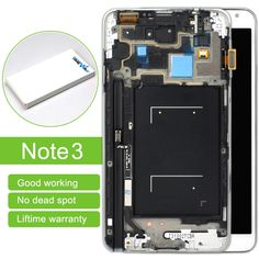 1190.00$  Watch now - http://alizfp.worldwells.pw/go.php?t=32788949522 - DHL10pc/lot Lcd Display Touch Screen Panel Digitizer With Frame Assembly For Samsung Note 3 N9000 N9005 Free Shipping 1190.00$
