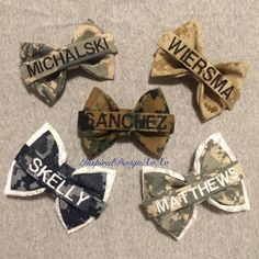 Nametape Bows Military Bows Marine Bow Army by InspiredDesignXoXo - Uniform Airforce Wife, Navy Girlfriend, Military Girlfriend, Military Love, Navy Wife, Girlfriend Tattoos, Military Dating, Military Couples, Girlfriend Quotes