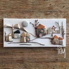 80 vind-ik-leuks, 5 reacties - Lily (@lily_ist) op Instagram: 'orda bir köy var uzakta serisi #minitaşlarım #pebbleart #minitaşlar#handcraft #handcrafted…'