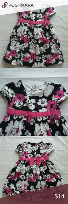 "Gymboree Girls Size 4T Bubble Dress Lovely black, pink and white floral print, ""bubble"" dress, meaning the skirt can be ""puffed"" out, fun to wear! Made by Gymboree, girls size 4T, 100% cotton, lined, machine washable. I loved this dress on my daughter!! Excellent condition. Gymboree Dresses"