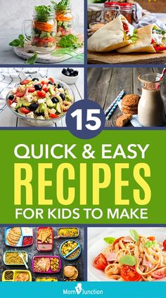 Are you looking for quick and easy recipes for kids to make at home? MomJunction has an immense list of healthy recipes that kids can make. Quick Meals For Kids, Healthy Meals For Kids, Quick Easy Meals, Healthy Cooking, Kids Meals, Quick Recipes, Baby Food Recipes, Healthy Recipes, Baby Snacks