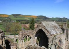 Melrose Abbey (12th C), in the Scots borderlands