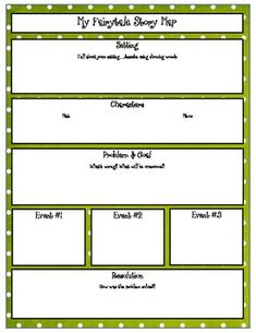My Fairytale Writing Graphic Organizer grades 4-5
