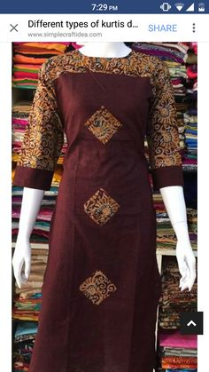 Kurti Salwar Neck Designs, Churidar Designs, Kurta Neck Design, Kurta Designs Women, Dress Neck Designs, Blouse Designs, Salwar Pattern, Kurta Patterns, Dress Patterns