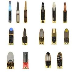 Quince tipos de balas diferentes