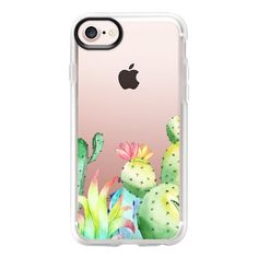 Cactus #3 - iPhone 7 Case And Cover ($40) ❤ liked on Polyvore featuring accessories, tech accessories, iphone case, clear iphone case, iphone cover case, apple iphone case and iphone cases