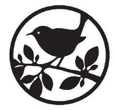 .bird stencil pattern: