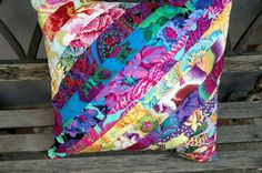 Kaffe Fassett Quilted Pillow, Pillow, Handmade, Unique Gift Item, Gift for Her…