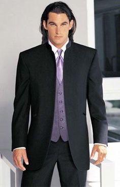 Handsome Stand Collar Groom Tuxedos Groomsman Men's Wedding Prom Suits Custom Made (Jacket+Pants+Vest+Tie) H:048