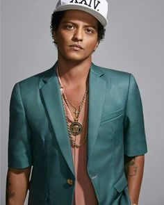 Singer Bruno Mars is photographed for Latina Magazine on October 2016 in Los Angeles, California.