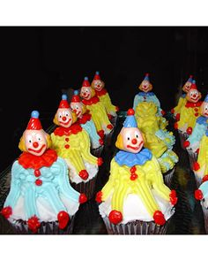 Clown Cupcakes: Cutest Cupcakes 2008 Contest Winners  Funthings submitted this fun entry to our Cutest Cupcake photo contest. What child wouldn't love these decorated treats at his or her birthday party?