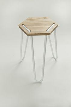 triHEX stool by Heidi Jalkh