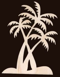 Palm Tree Scene Natural Craft Wood Cutout 16544 By TexasArtCraft 299