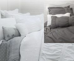 Inspiration Duvet and Shams. Comes in White or Charcoal.like the bigger pic!