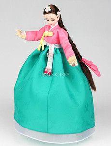 Doll wearing a Hanbok