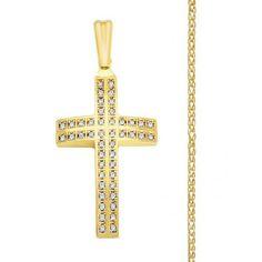 Βαπτιστικός Σταυρός κορίτσι χρυσός 14κ 3,4gr με αλυσίδα 1,8gr και διακόσμηση από πέτρες, Σταυρός κορίτσι με αλυσίδα επώνυμος-μοντέρνος-οικονομικός, Σταυρός βάπτισης για κορίτσι με αλυσίδα, Οικονομικός Σταυρός κορίτσι σετ με αλυσίδα Symbols, Letters, Letter, Lettering, Glyphs, Calligraphy, Icons