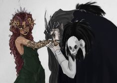 Hades And Persephone by yip-yop on @DeviantArt