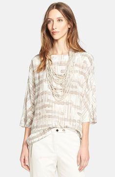 Fabiana Filippi Print Silk Blouse available at #Nordstrom
