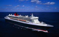 Queen Mary 2 at sea. www.cruisenow.com.au