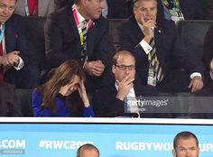 Catherine, Duchess of Cambridge and Prince William, Duke of Cambridge attend the Rugby World Cup 2015 match between England v Fiji at Twickenham Stadium on September 18, 2015 in London, England.