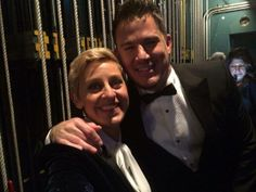 Ellen's selfie with Channing Tatum backstage the 86th Academy Awards - 2014