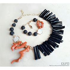 bdd01b73bcbf Conjunto de joyas Boho joyas verano joyería de playa Collar De Piedras  Preciosas