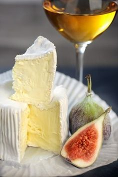 Camembert Cheese & a glass of Sauternes