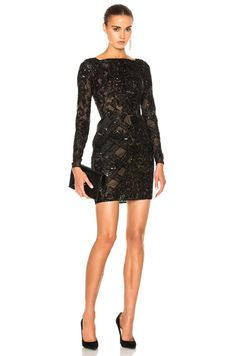 Shop for Zuhair Murad Embroidered Tulle Mini Dress in Black at FWRD. Free 2 day shipping and returns. Designer Cocktail Dress, Sequin Cocktail Dress, Sequin Mini Dress, Long Sleeve Mini Dress, Tulle Dress, Cocktail Dresses, Dress Long, Casual Dresses, Short Sleeve Dresses