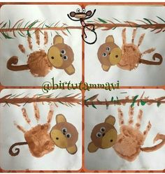Crafts,Actvities and Worksheets for Preschool,Toddler and Kindergarten Rainforest Crafts, Rainforest Animals, Animal Crafts For Kids, Toddler Crafts, Kindergarten Crafts, Preschool Crafts, Kids Crafts, Monkey Crafts, Jungle Theme