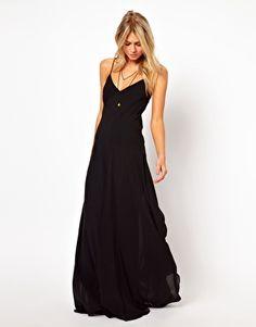 Imagen 1 de Vestido largo con detalle de costuras de ASOS