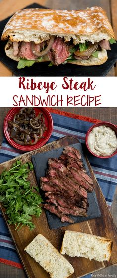 ad Ribeye Steak Sandwich Recipe The Fresh Market - Sandwiches, Burger, Pizza, Wraps & more - Ribeye Steak Sandwich Recipe, Sandwich Sauces, Roast Chicken Sandwich Recipes, Steak Sandwiches, Fish Sandwich, Pot Luck, Kitchen Recipes, Cooking Recipes, Bon Appetit