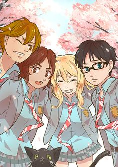 """jellyfishflan: """"My piece from one year ago for a Your Lie In April zine that fell through. """""""