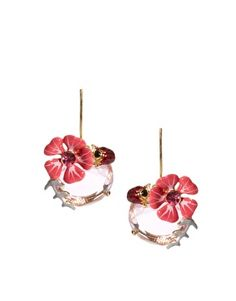Les Nereides Ladybird & Flower Gem Earrings