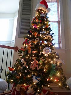 My kids beanie boo Christmas tree in her playroom(me>) I need to ...