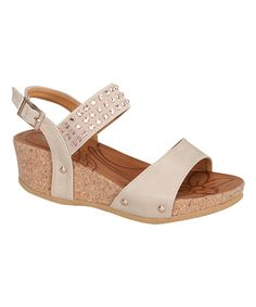 This Link Beige Stud Rene Wedge by  is perfect! #zulilyfinds