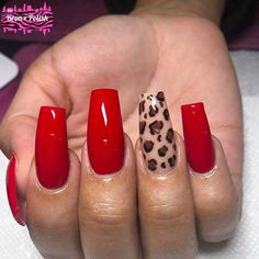 Luxury nails are something that all fashionable ladies are indifferent to. That is why we have compiled this fresh and trendy set of unique manicure ideas. It is up to you to decide what to replicate and what to use as the perfect inspiration. Red Acrylic Nails, Acrylic Nail Designs, Nail Art Designs, Cheetah Nail Designs, Animal Nail Designs, Diamond Nail Designs, Red Nail Art, Pastel Nails, Nail Swag