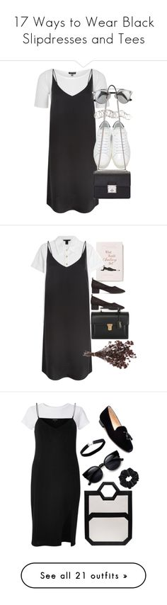 """""""17 Ways to Wear Black Slipdresses and Tees"""" by polyvore-editorial ❤ liked on Polyvore featuring slipdresses, waystowear, falllayers, Topshop, New Look, Yves Saint Laurent, Dolce&Gabbana, H&M, Anthropologie and Marc by Marc Jacobs"""