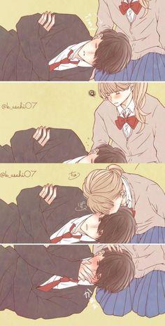when a boy blushes😁~its kinda cute.no hay nada mas lindo., when a boy blushes😁~its kinda cute.no hay nada mas lindo. when a boy blushes😁~its kinda cute.no hay nada mas . Cute Couple Drawings, Anime Couples Drawings, Anime Couples Manga, Manga Anime, Anime Art, Best Anime Couples, Cute Couple Comics, Cute Comics, Manga Couple