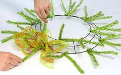 Ruffle Wreath- Step 5