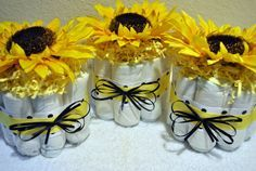 sunflower centerpieces for baby shower - Google Search