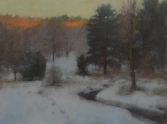 "Curtis Hansen: First Light in the Hollow 30"" x 40"""