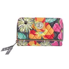 Vera Bradly Turn Lock Wallet in Jazzy Blooms  Of course you have to have a wallet to match the bag.  The turn-lock wallet fits everything you need and keeps it perfectly organized.