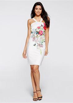 Šaty v štýle scuba Flower-Power • 13.99 € • Bon prix