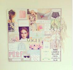 DIY Collage out of magazines and some printouts:) La la la lovee