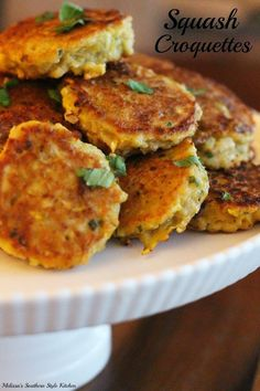 Squash Croquettes - Panko and eggs turn squash into a fabulous side dish that kids will love.