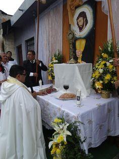 altar para recibir el Cuerpo de Cristo
