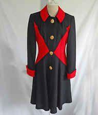 Constance Saunders Vintage 70s Coat Dress Shirt 6 Nos Colorblock Fit Flare Wool